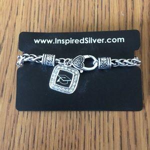 Jewelry - Inspired Silver Graduation Charm Bracelet.